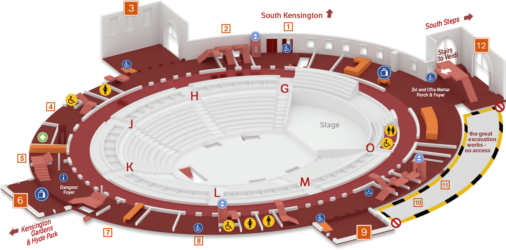 Venue plan royal albert hall for Door 12 royal albert hall
